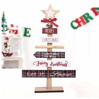 Christmas Decorations Wooden Tree Desktop Ornaments Mini Decoration Gift