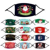 أزياء الأطفال القطن المطبوعة عيد الميلاد حزب ديكور قناع الوجه الغبار في الهواء الطلق والثلوج قابل للغسل قابلة لإعادة الاستخدام قناع الفم