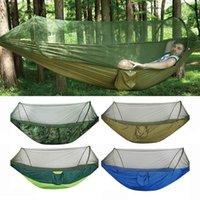 Tiendas y refugios al aire libre Camping Hamaca con mosquitero Ripstop Nylon Lightweight Bug Free Senderismo Mochilero Portátil