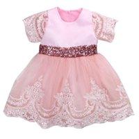 Baby Mädchen formale Prinzessin Kleid 2021 Ankunft Vestido Infantil Spitze Bogen Ballkleid Tutu Partykleider Kind für Mädchen 0-7Y Mädchen