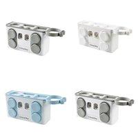 Familie Zahnbürstenhalter Set Easy Installieren Kunststoff Badezimmer Zahnbürste Lagerregal Zahnpasta Spender mit 4 Tasse Y200407 699 R2