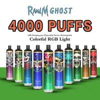 Оригинальный RANDM Ghost одноразовые E сигарета с RGB Light 4000Puffs 650mAh перезаряжаемый ECIG POD устройства пару бар