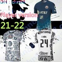 플레이어 버전 G. DOS Santos 21 22 홈 세 번째 축구 유니폼 아메리카 R.Sambueza P.Aguilar Rodriguez F. Vinas Henry 2021 2022 멕시코 클럽 축구 셔츠