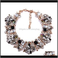 Chokers & Pendants Jewelryfashion Crystal Rhinestone Flowers Necklaces Charm Choker Statement Collar Necklace Women Jewelry Gift Drop Deliver