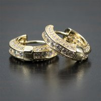 Hoop & Huggie Classic S925 Gold Plated Small Earrings Exquisite Crystal Zircon For Men Women Wedding Party Fashion Jewelry Gifts