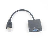 10 adet / grup HDMI Erkek VGA Kadın Video Dönüştürücü Adaptör Kablosu PC Laptop HDTV Projektörleri ve Diğer HDMI Giriş Aygıtları