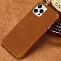 Funda de cuero pull-up genuina para iPhone 12 Pro Max 12 Mini 11 Pro MAX X XR XS MAX 6 6S 7 8 PLUS 5 5S SE 2020 CUCHO CUCHO CABALL