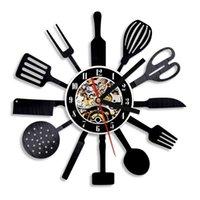 Настенные часы 1 часы Персонализированные 12-дюймовые кухонные часы нож вилка ложка столовые посуды часы столовые приборы искусства