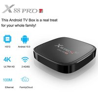 X88 PRO T Android 10.0 Smart TV Box Android 10 1G 8G 2G 16G TV BOX Rockchip H313 Youtube 4K Set Top Box Media player
