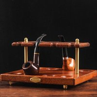 Smoking Pipes Wooden Pipe Stand Rack Display Holder For Holding 8 Tobacco Accessories Tube Blunting Tool