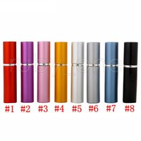 DHL Free Ship Perfume Bottle 5ml Aluminum Refillable Portable Mini Bottles Spray Empty Makeup Containers With Atomizer For Traveler RRA4447