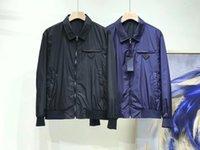 Chaqueta para hombre primavera otoño ropa exterior clásico letra patrón hombres dos colores moda manga larga abrigos casuales de alta calidad