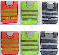 تنظيف المرور الطرق السريعة الصرف الصحي عاكس السلامة الملابس تنفس شبكة عالية الرؤية تحذير عاكس الملابس الصدرية RRB10930