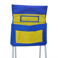 Bolsos de cadeira Saco de assento lavável durável saco de armazenamento de volta 6 suprimentos estudantis para sacos de estudantes