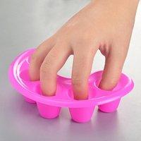 Nail Art Kits 5Pcs DIY Portable Five Fingers Wash Bowls Polish Varnish Remover Soaker Easy To Use, For Home Or Professional Salon Use