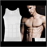 Tank Tops Apparel Drop Delivery 2021 Mens Slimming Body Shaper Belly Fatty Underwear Vest Shirt Corset Compression Bodybuilding Underwear1 Pb