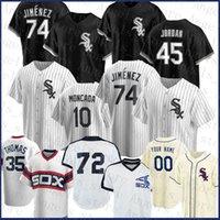 Chicago Baseball Jersey White Sox personalizado 74 Eloy Jimenez 45 Michael 7 Tim Anderson 8 Bo Jackson 10 Yoan Moncada Frank Thomas 72 Carlton Fisk