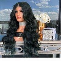 Kötü koku yok Dış ticaret moda yeni patlama modelleri ön dantel siyah peruk bayan uzun kıvırcık saç kimyasal elyaf yüksek sıcaklık ipek peruk