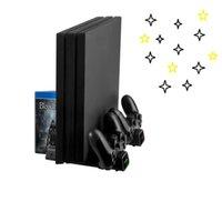 Chargery Konsoli PS4 PS4 PS4Slim Pionowe Sterowniki Chłodzące Pionowe Sterownik Podstawa ładowanie 2 Soğutucu 10 Gry Przechowywanie Sony Playstation 4