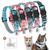 Cat Collars & Leads Quick Release Collar Custom Pet Puppy ID Tag Adjustable Breakaway Kitten Bell Safety For Small Dogs Cats