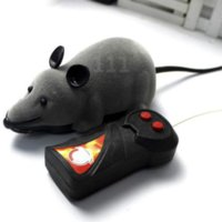TJ Komik RC Fare Hayvanlar Pet Oyuncaklar 10 cm Kablosuz Uzaktan Kumanda Elektronik Zor Sıçan Fareler Kedi Köpek Oynayan Çiğneme Oyuncak Çocuklar Çocuk Hediye