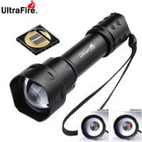 ULTRAFIRE T20 10W Torcia elettrica IR 850nm 940nm Night Vision Zoomable Torch LED Torcia a infrarossi Torcia Torcia tattica Torcia elettrica 210322
