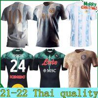2021 Argentine Messi Retro 1978 1986 Maradona Jersey 20 21 Naples Napoli Home Shirt de football
