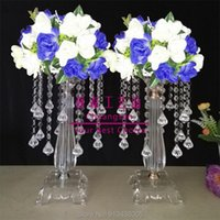 Party Decoration Tall Gold Color Metal Iron Wedding Flower Stand Centerpieces Road Lead For Decoration, Table Centerpiece