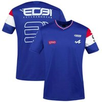 T-shirt da uomo T-shirt da corsa Automobili T-shirt Camicia a maniche corte Abbigliamento Blu Nero Traspirante Jersey 2021 Spagna Alpine F1 Team Motorsport Alonso