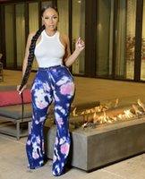 Women's Jeans Mdmupaogit Streetwear Women Tie Dye Flare Bell Bottom Print Baggy Clothing Y2k Casual Denim Pants