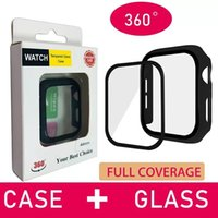 Full Protective Cases Cover with Tempered Glass Film For Apple Watch Series 7 6 SE 5 41mm 45mm 44mm 40mm Fit iWatch 4 3 38mm 42mm Shock Proof Protector Case