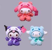 20 cm pluszowa zabawka lalka Panda przekształcona w Kuromi Melody dla dzieci Dziewczyny Zabawki Faszerowane Zwierzęta Filmy TV