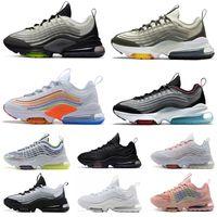 En Kaliteli Yastıklar ZM950 Koşu Ayakkabıları Erkek Bayan 2021 Yeni Gelenler Klasik 950 Tüm Siyah Beyaz Erkekler Spor Sneakers Racers Eğitmenler Boyutu 36-45