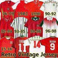 Giggs 1976 79 82 90 92 93 94 95 96 98 15 16 Gales retrô futebol jerseys Vintage Bale Hughes Saunders Rush Boden Speed Classic Camisa de futebol uniformes