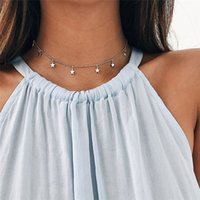Fashion Long Necklaces 2018 Summer New Bohemia Style Gold Silver Color Star Moon Necklace Women Boho Pendants Choker Jewelry G2 1152 T2