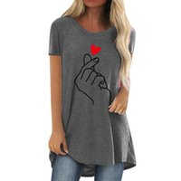 Women's T-Shirt Summer Oversized Women Fashion Than Heart Finger Graphics Anime Tshirts Short Sleeve O Neck Casual Tees Tops Ropa Mujer