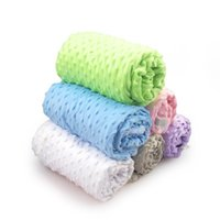 Blankets & Swaddling Baby Blanket Born Thermal Soft Fleece Winter Solid Bedding Set Cotton Quilt Infant Swaddle Wrap