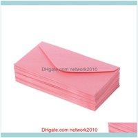 Gift Event Festive Supplies Home & Gardengift Wrap 50Pcs Retro Blank Mini Paper Envelopes Wedding Party Invitation Greeting Cards W89C Drop