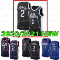 2021 Neue Los AngelesLA.Clippers Jersey Männer 2 Leonard Paul 13 George 15 Kawhi San Diego State College 20 21 Basketball