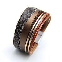 Charm Bracelets European And American Style Retro Personality Jewelry Snake Skin Rhinestone Bracelet Lady