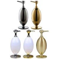 Liquid Soap Dispenser 350ml Modern Vintage Metal Refillable Hand Sanitizer Pump Bottle Shampoo Holder For Bathroom Vanity