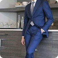 Men's Suits & Blazers Peaked Lapel Men Blazer Slim Fit Formal Wedding Custom Made Groom Wear Prom Tailored Tuxedos Man Jacket+Pants
