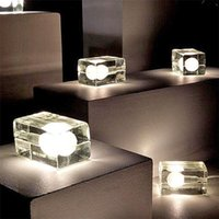 Table Lamps Creative LED Crystal Glass Lamp Living Room Bedroom Bedside Decoration Night Light Ice Cube Bulb Holiday Gift