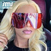 Sen Maries Sunglasses Sunglasses Oversized Mulher 2021 Nova Marca Vintage Liga Espelho Grandes Estrelas Quadros para Feminino Macho Eyewear Shades UV400