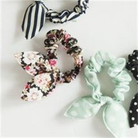 BAMBINI BAMBINI CAPELLO Cute Bunny Coniglio Ear Elastic Dot Floral Dot Hair Fashion Point Accessori Scrolly Candy Color Headdress 580 K2