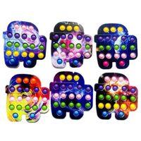 Butterfly bear Multi Shapes push pop fidget bubbles popper toys rainbow tie dye poo-its bubble board Regular size finger puzzle desktop deco