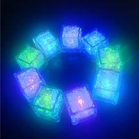7 Kolory Mini Luminous SHINE Sztuczne Kostki Lodu Flash Led Light Wedding Christmas Party Decoration Prezent