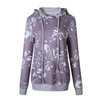 Women's Hoodies & Sweatshirts Autumn Winter Floral Loose Hoodie Sweatshirt Pullover Tops Blouse Printed Flannel N