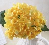 47cm 인공 수국 헤드 가짜 실크 단일 진짜 터치 수국 8 색 결혼식 센터 피스 파티 장식 꽃 374 v2