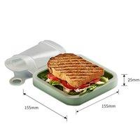 Сэндвич-ланч-коробки на открытом воздухе Сумки для пищевых продуктов питания Toast Wendonoon Coe Student Office Manage Bento Box можно поставить в микроволновую печь OOD5704